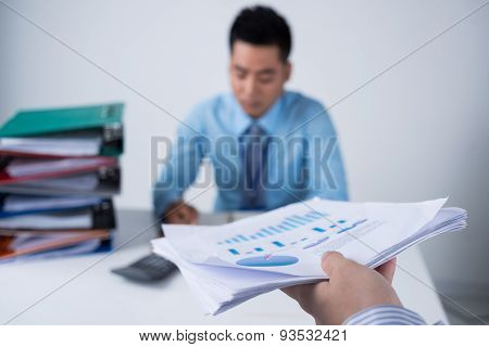 Passing Financial Document