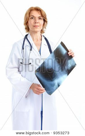 Medical Doctor With X-ray Image.