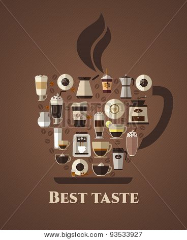 Coffee best taste poster