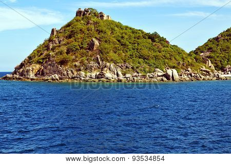 Asia Kho Tao Bay Isle   House Boat In Thailand  And  Sea