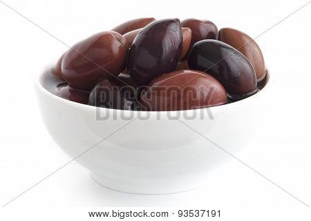 Greek Kalamata olives.