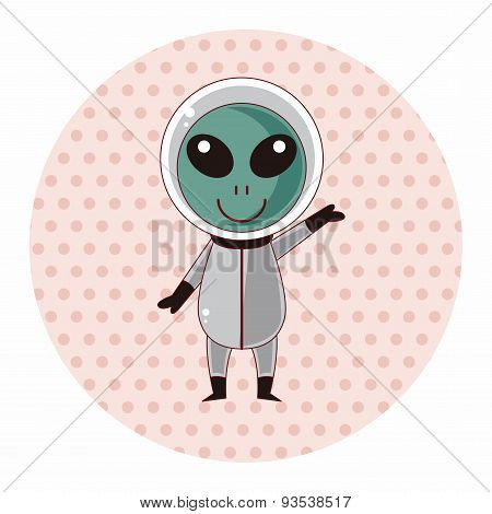 Space Alien Theme Elements
