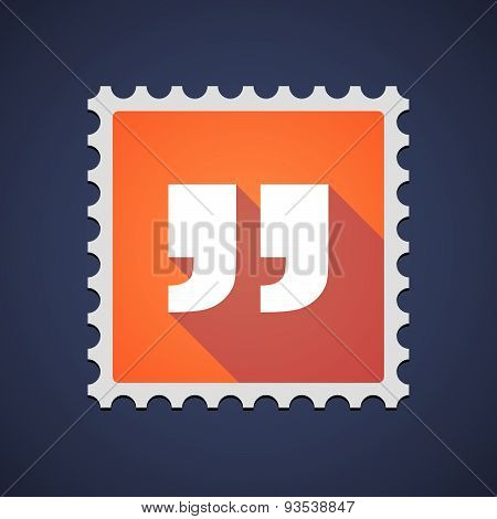 Orange Mail Stamp Icon With Quotes