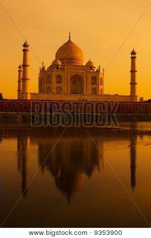 Taj Mahal Sonnenuntergang am Yamuna river