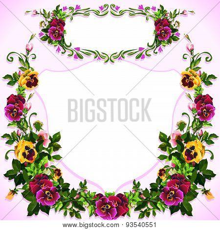 Watercolor Pansy Bouquet Label