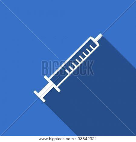medicine flat icon syringe sign