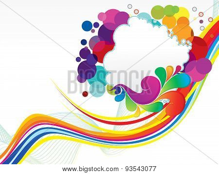 Abstract Colorful Wave Explode