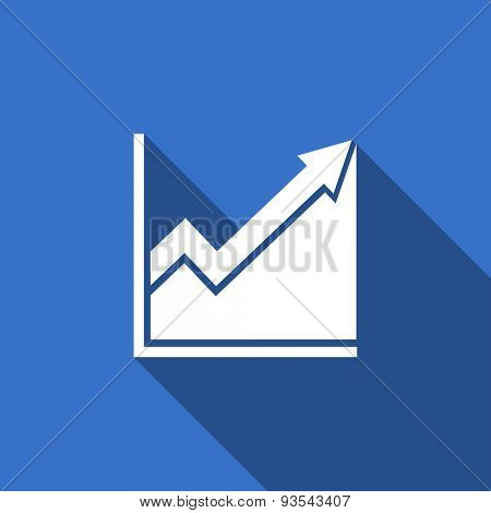 histogram flat icon stock sign