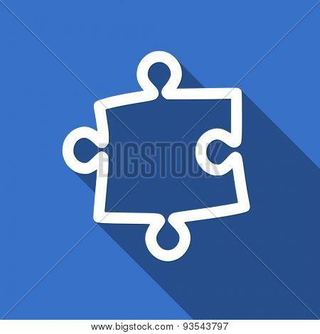 puzzle modern flat icon with long shadow