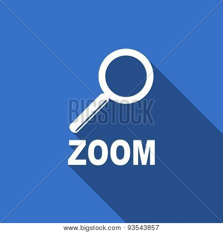 zoom modern flat icon with long shadow