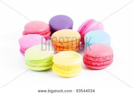 Group Of Colorful Macaron
