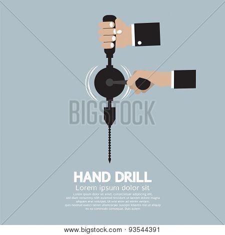 Flat Design Hand Drill.