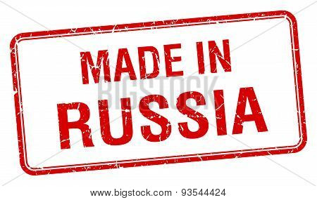 Made In Russia Red Square Isolated Stamp
