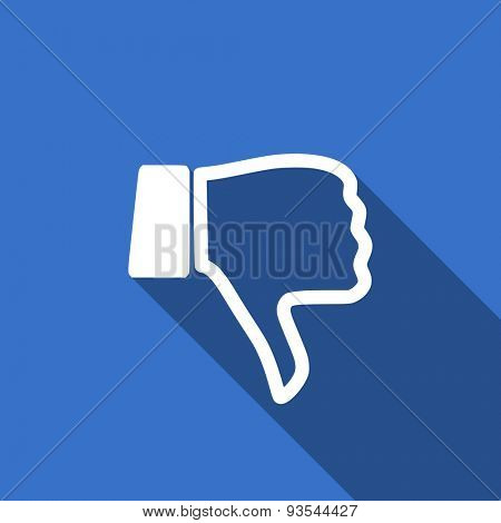 dislike modern flat icon with long shadow thumb down sign