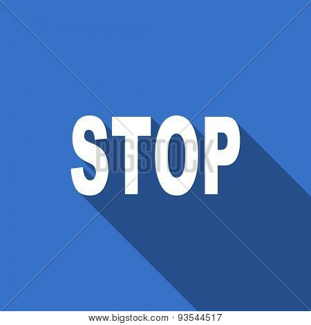 stop modern flat icon with long shadow