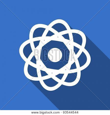 atom modern flat icon with long shadow