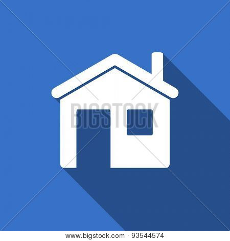 house modern flat icon with long shadow home sign