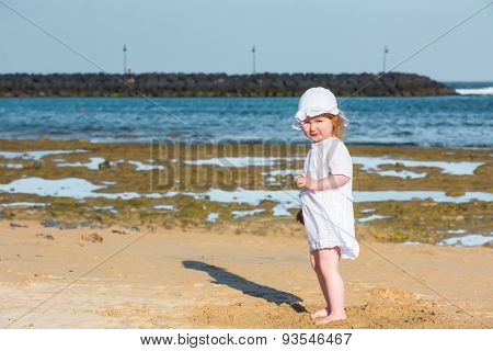 little girl on the seashore
