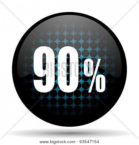 90 percent icon sale sign