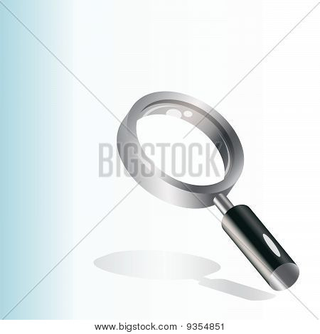 vector illustration of a magnifying glass over white background