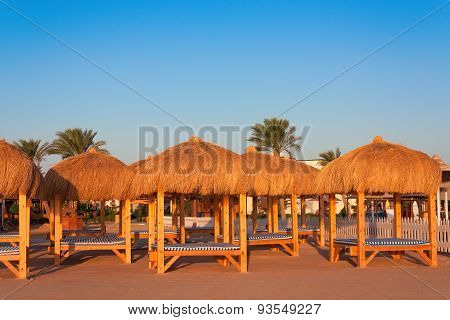 Loungers to relax in Sharm el Shiekh resort