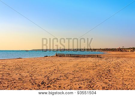 Sandy beach on the Red Sea