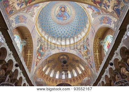 Interior Of Naval Cathedral Of Saint Nicholas, Kronstadt, St. Petersburg