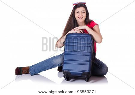 Young woman preparing for summer vacation