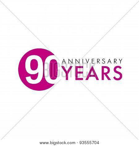 90 years logo