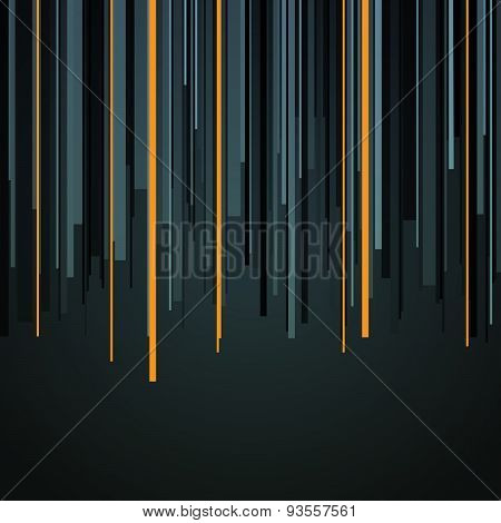 Abstract infographics vertical gray, black and orange stripes ba