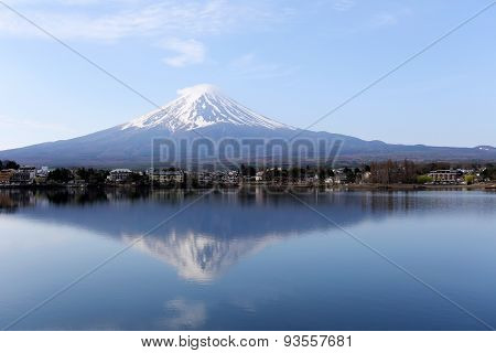 Mt Fuji At Kawaguchi Lake View.