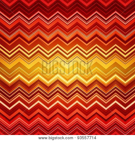 Abstract red and orange zig-zag warped stripes ethnic pattern ba