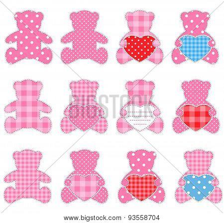 Twelve Pink Bears