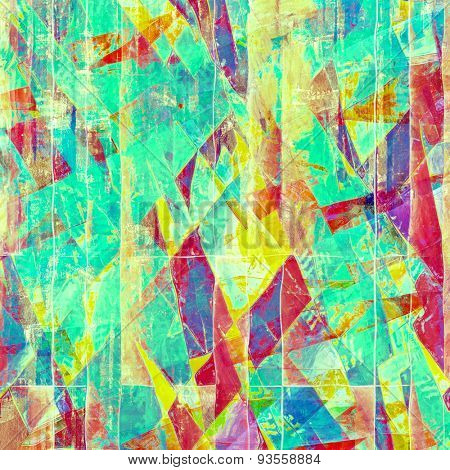 Art grunge vintage textured background. With different color patterns: yellow (beige); blue; purple (violet); pink