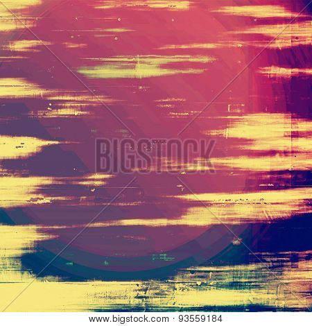 Abstract rough grunge background, colorful texture. With different color patterns: yellow (beige); blue; purple (violet); pink