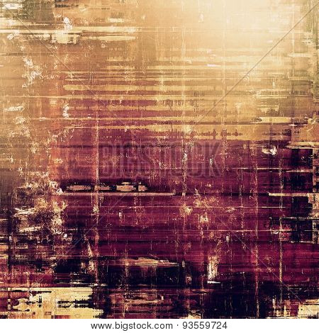 Old grunge textured background. With different color patterns: yellow (beige); brown; purple (violet); black