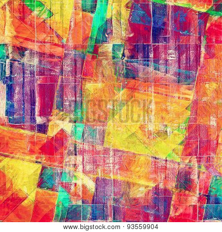 Grunge old texture as abstract background. With different color patterns: yellow (beige); green; blue; purple (violet); red (orange)