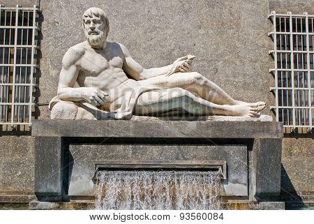 The Fountain Of Po River, Turin