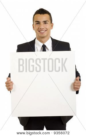 Businessman With Blank Board