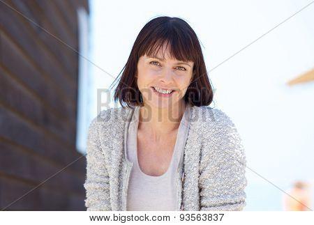 Natural Fresh Older Woman Smiling