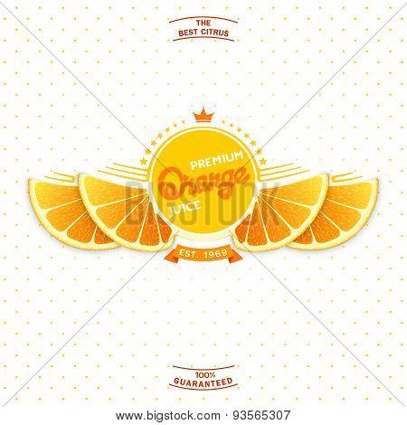 Premium quality orange juice