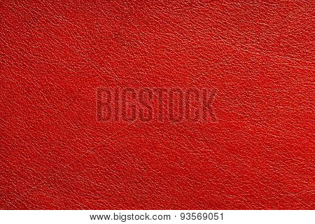 Natural Red Leather Texture