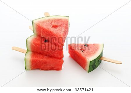 Watermelon Popsicle Yummy Fresh Summer Fruit Sweet Dessert