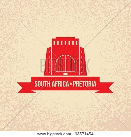 Vector silhouette of Pretoria,  South Africa.