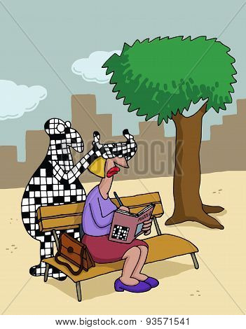 Cartoon about crossword puzzles