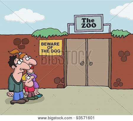 Conceptual cartoon about Zoo
