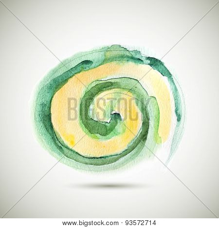 Vector Watercolor Spiral