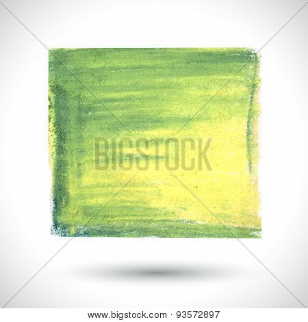 Vector green handmade brush