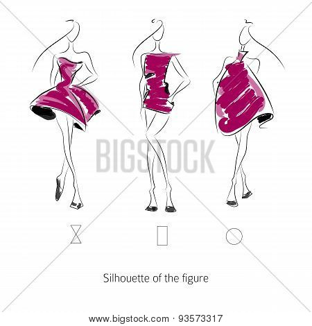 Vector Fashion Model Silhouette