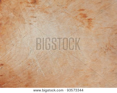 Light wooden surface with scratches
